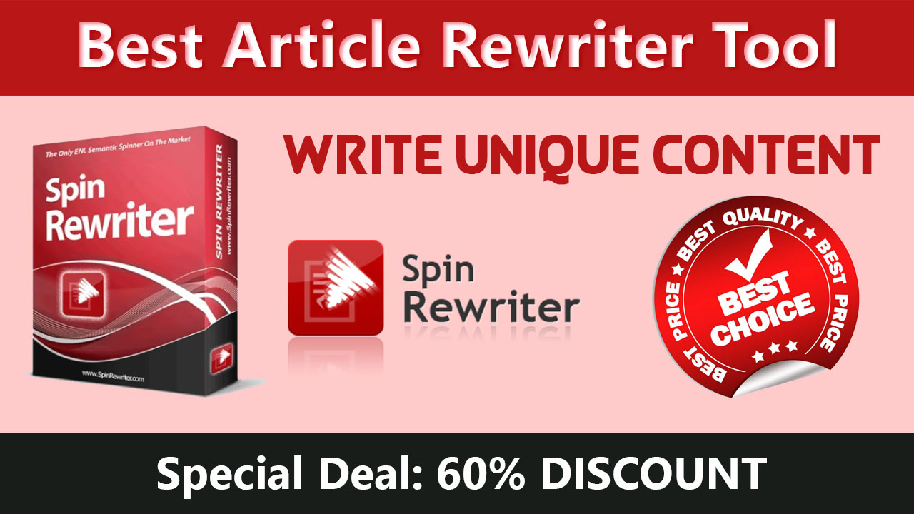 Spin Rewriter Special Deal: 60% DISCOUNT